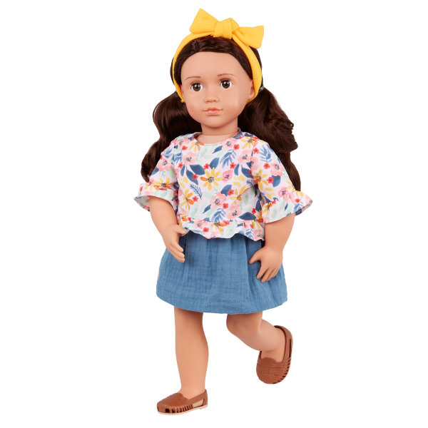 Our Generation Posable 18-inch Doll Rayna Brown Hair & Eyes