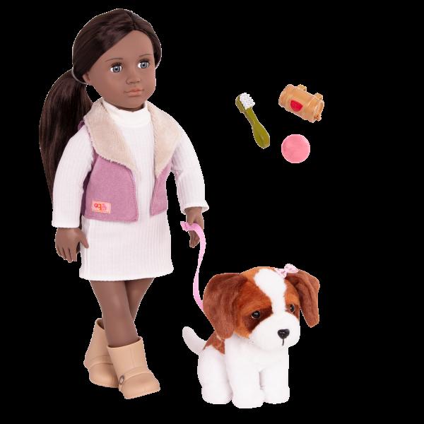 18-inch Doll and Pet Set Kinzie & Plush Dog