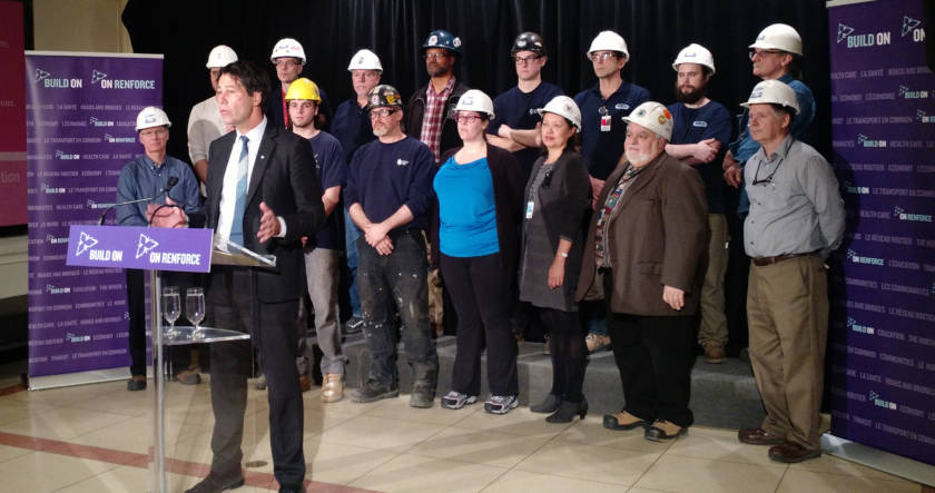 Ontario Minister of Health and Long Term Care Dr. Eric Hoskins announcing the funding for improved hospitals