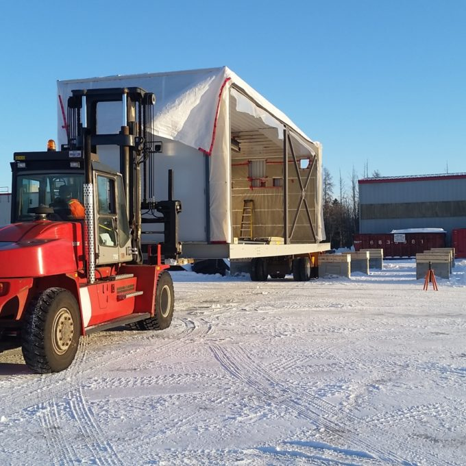Equipment transport - Northern remote location snow