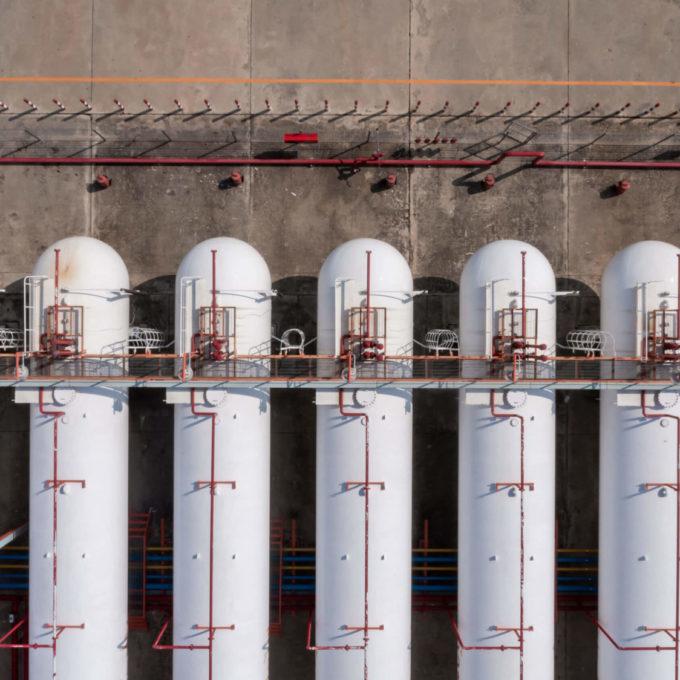 Oil tanks - Sky view