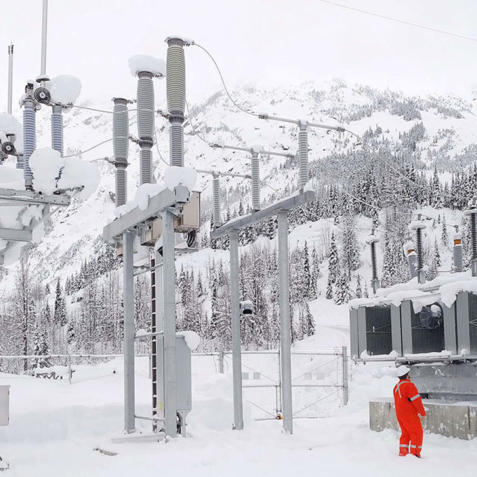 Commissioning and field services - Substation in a snowy location