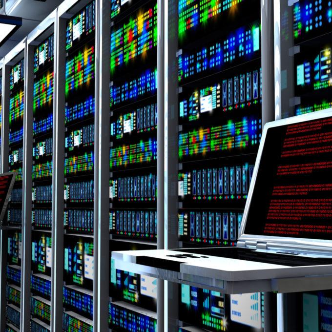 Data Center server room interior