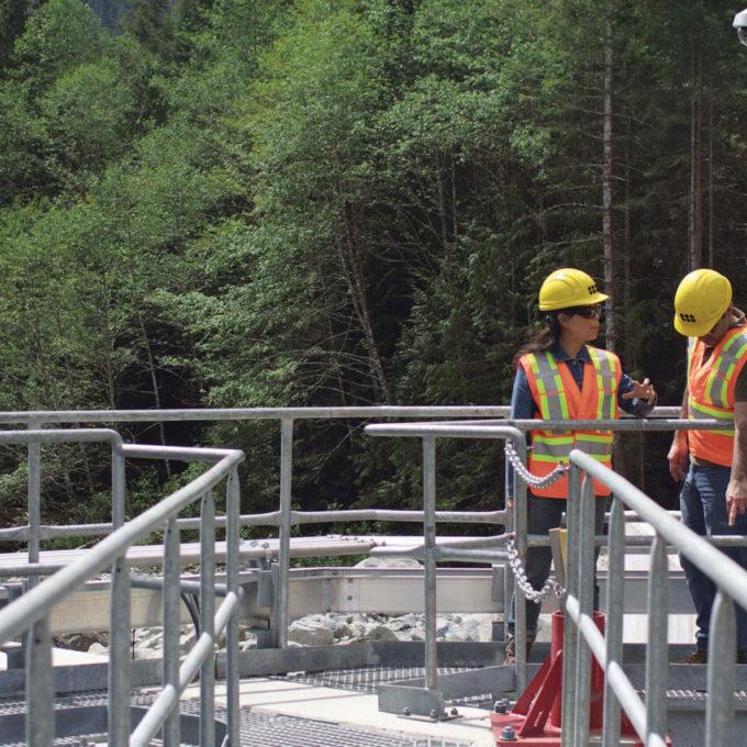 Power - Hydropower Plant - People walking on a ramp 2