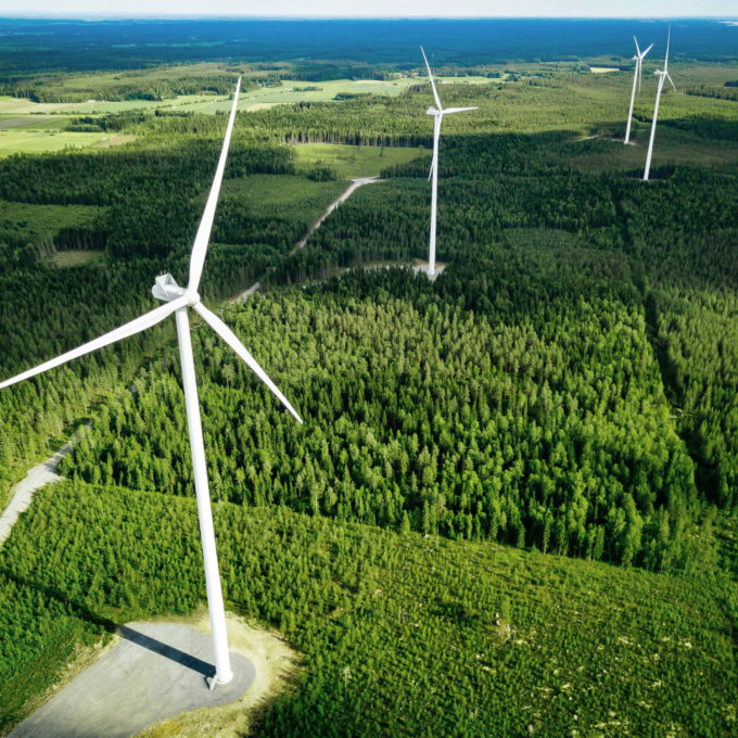 Renewables - Wind turbines in forest