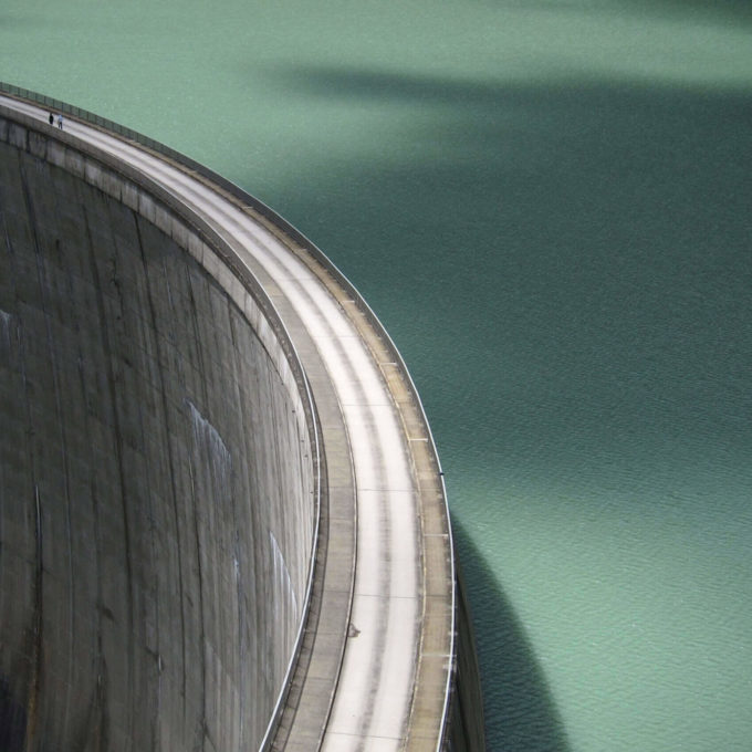 Hydropower - Dam with turquoise water