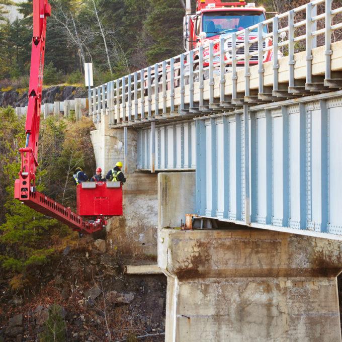Under bridge work