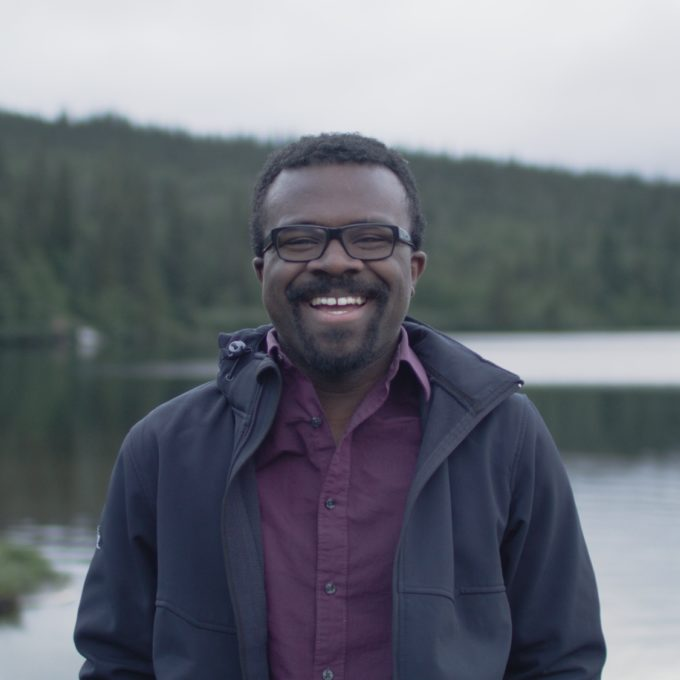 Diversity - Employee smiling forest lake