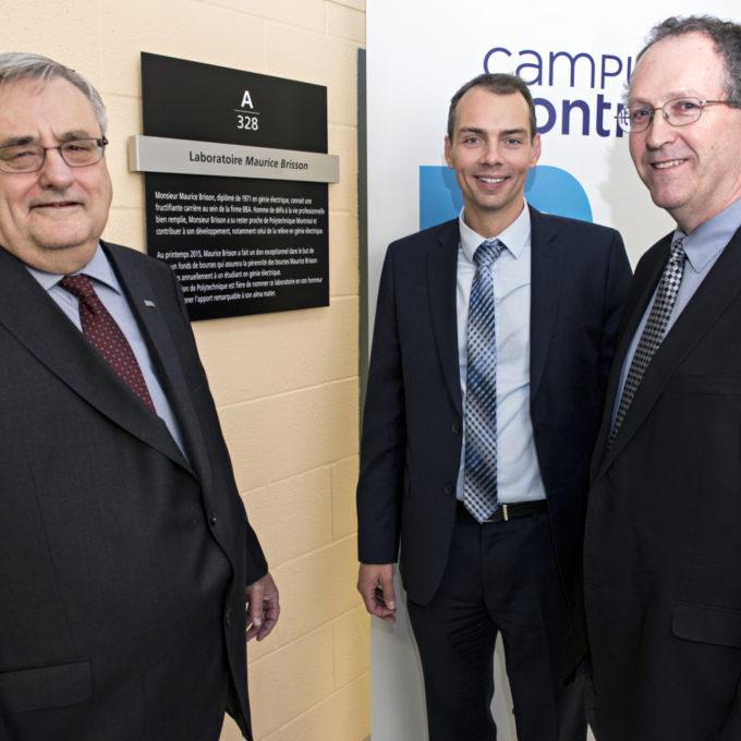 Engagement social - Création du « Fonds de bourse Maurice Brisson » à Polytechnique Montréal, Montréal (QC) 2015