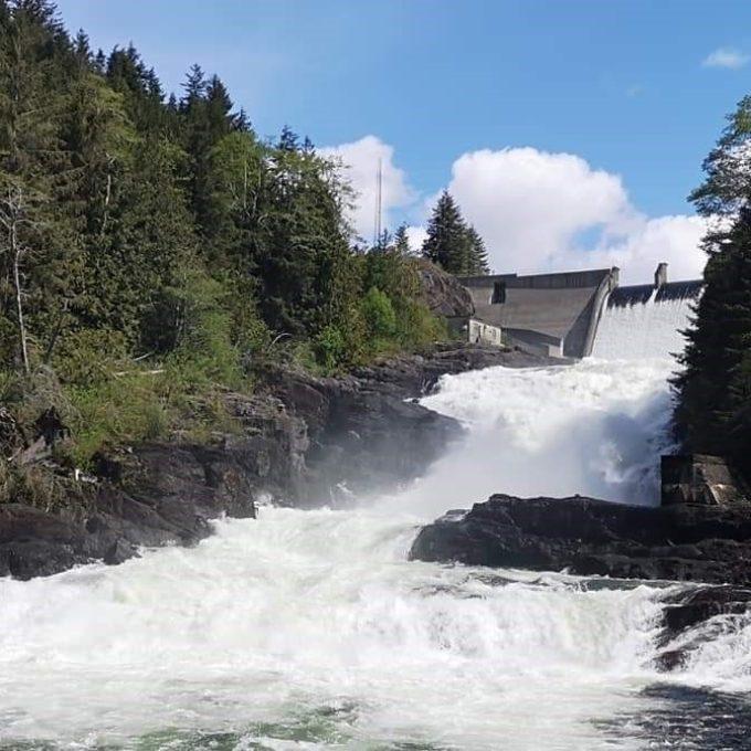 Ocean Falls spillway