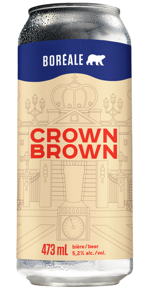 Crown Brown 3 D Can goutte