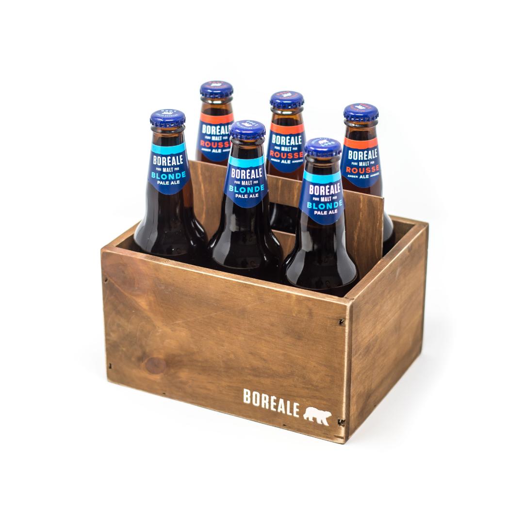 Caisse en bois 6 bouteilles