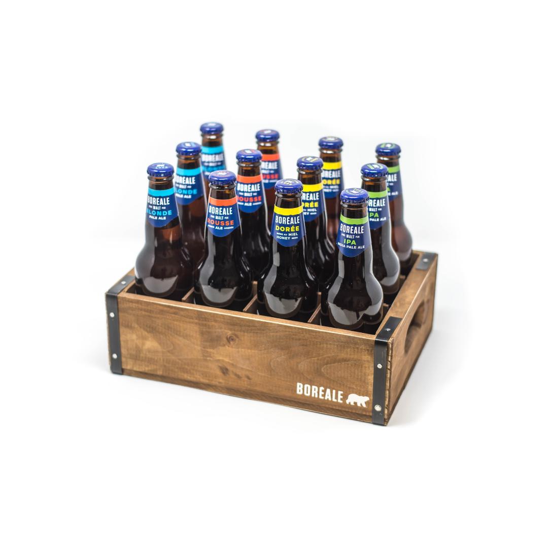 Caisse en bois 12 bouteilles