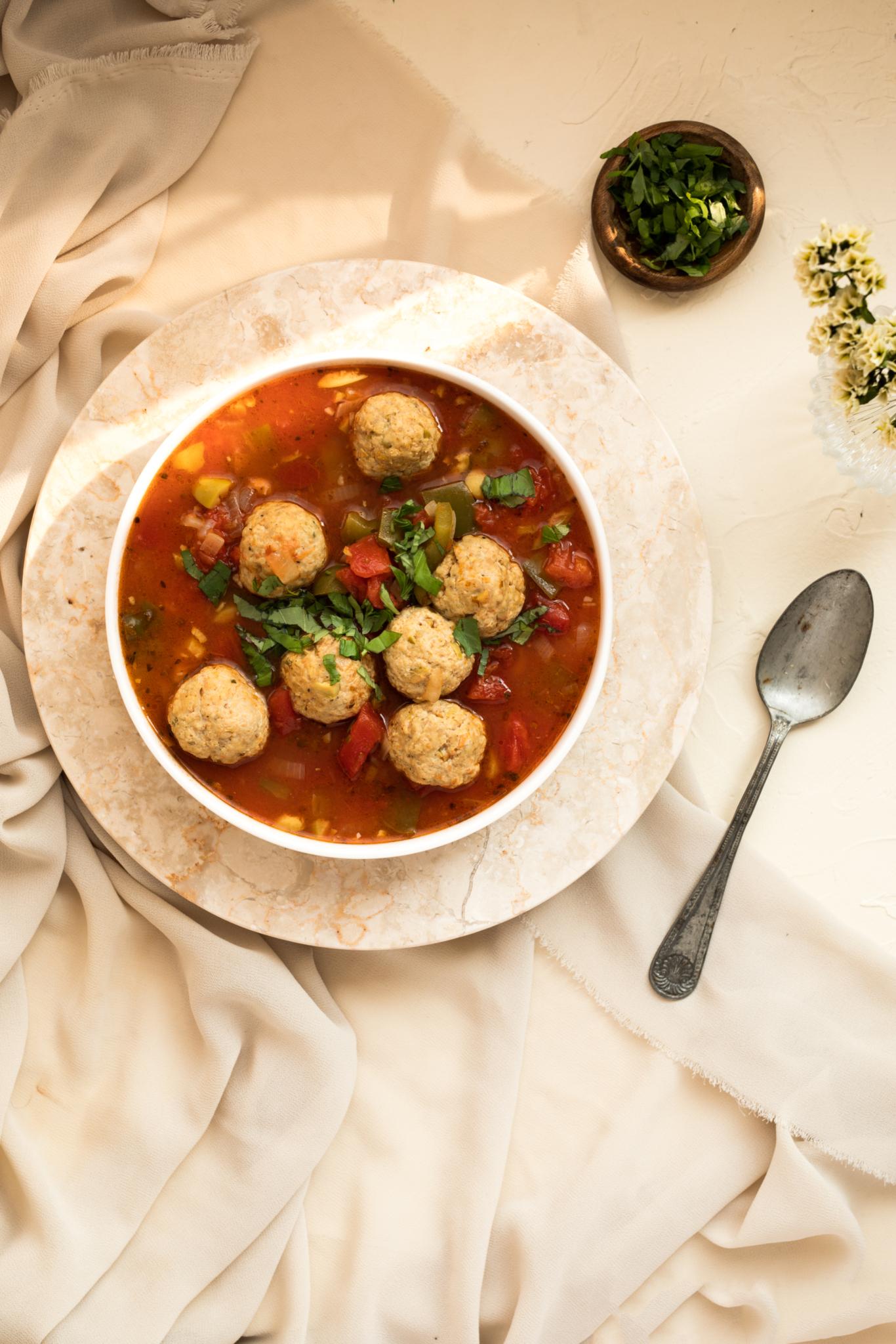 3 X PAR JOUR soupe aux boulettes de poulet