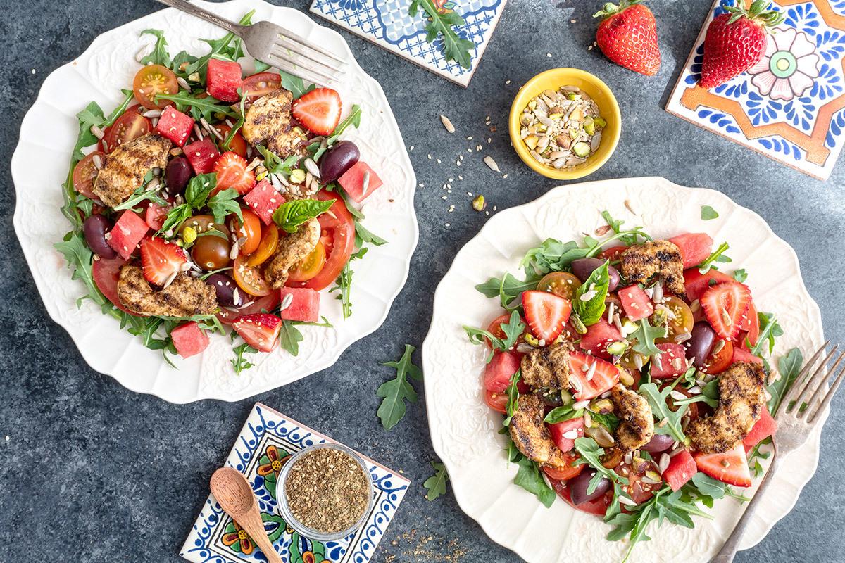 COLLABO SALADE TOMATES ET MELON fraise
