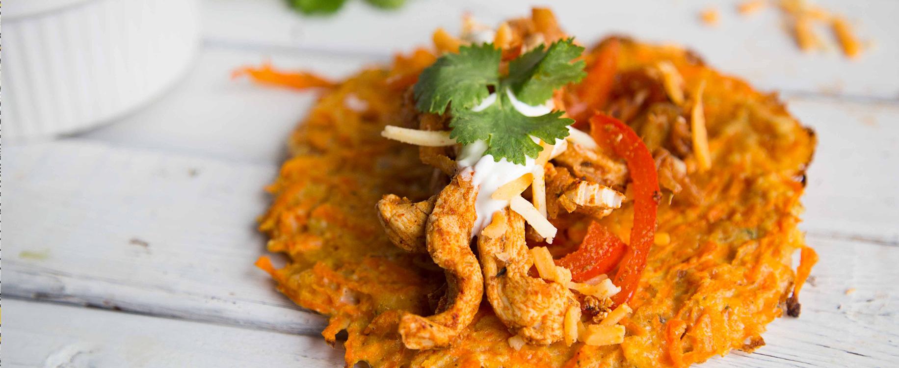 Tacos de carottes au poulet