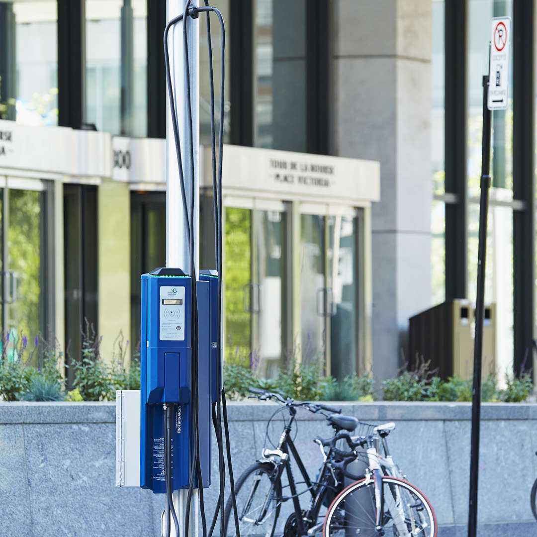 <p>Electric Circuit curbside charging station </p>