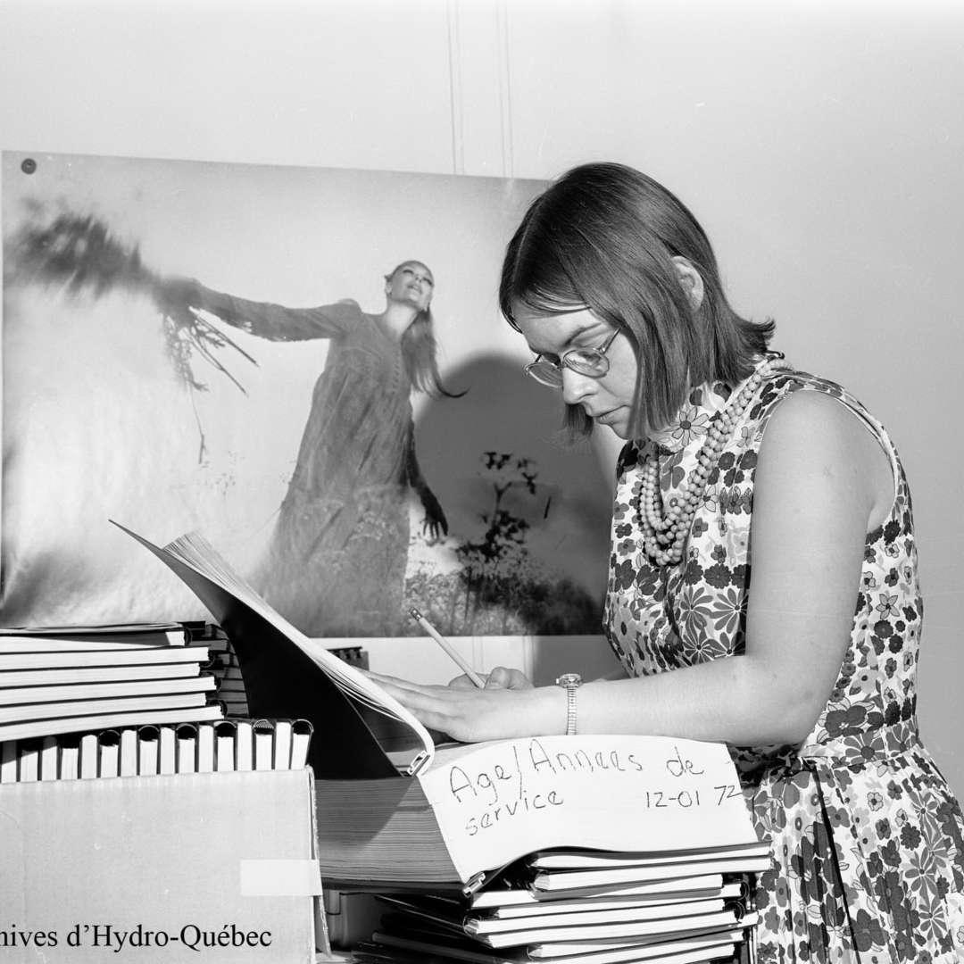 <p>LucienneJetté, démographe à Hydro‑Québec, 1972. Elle a joué un rôle de premier plan dans la création du comité d'étude sur la situation de la femme à Hydro‑Québec en 1975. </p> <p>©Archives d'Hydro‑Québec</p>