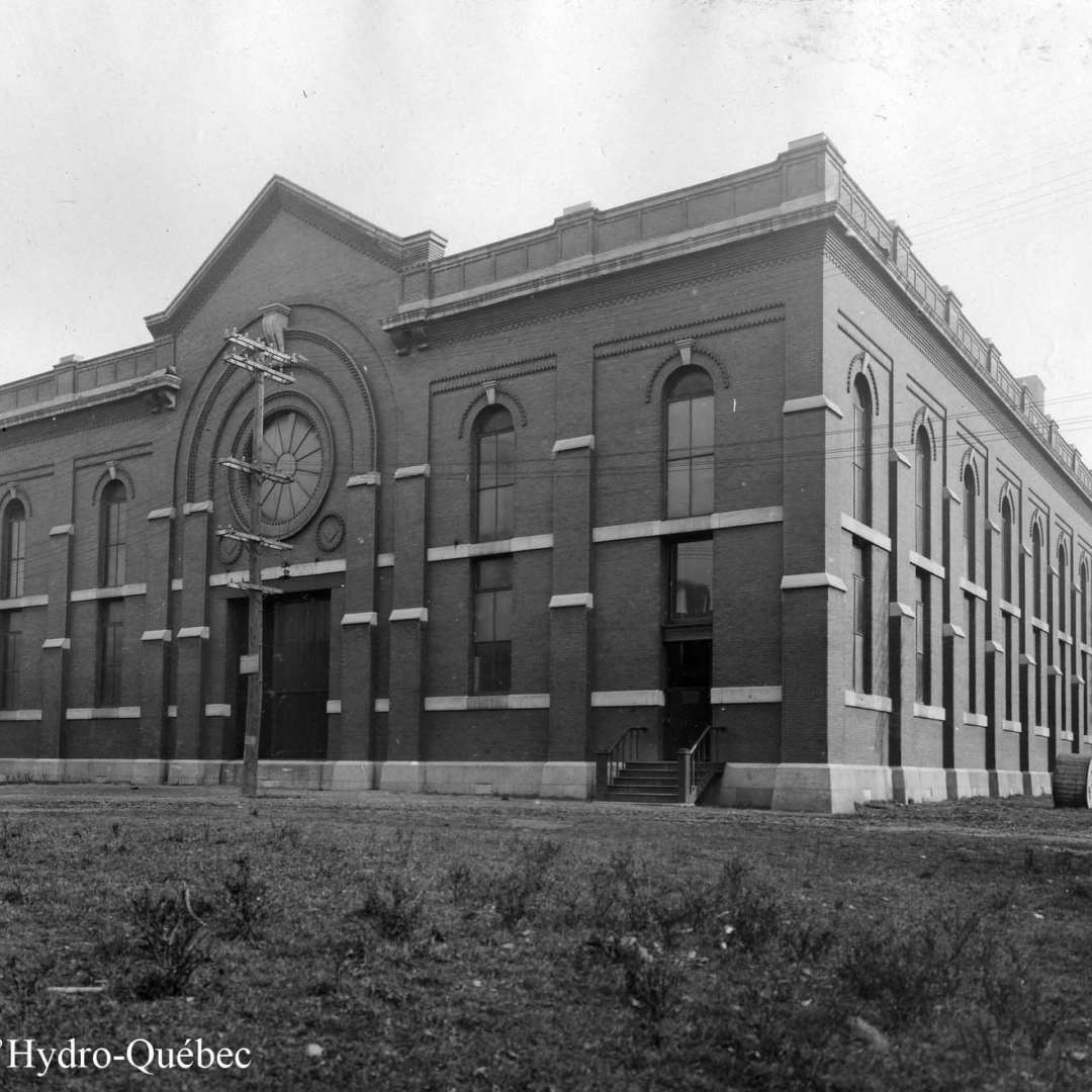 <p>Central substation, commissioned in 1901 and still in operation today. The substation played a key role in the transmission and distribution of electricity in Montréal. It was renamed Adélard-Godbout substation in 2005 in honor of the Premier of Québec who presided over the first nationalization. </p> <p>©Hydro-Québec archives.</p>