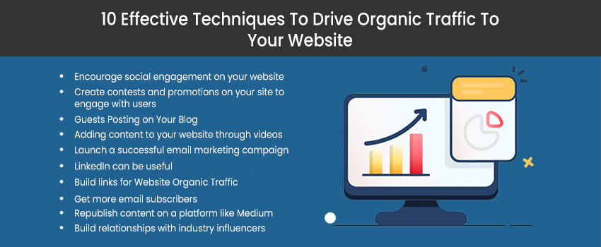 10 Effective Techniques To Drive Organic Traffic To Your Website