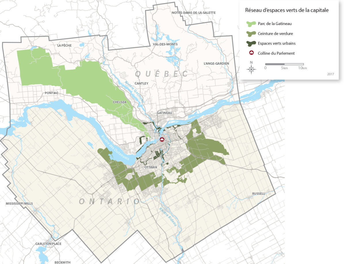 Réseau d'espaces verts de la capitale