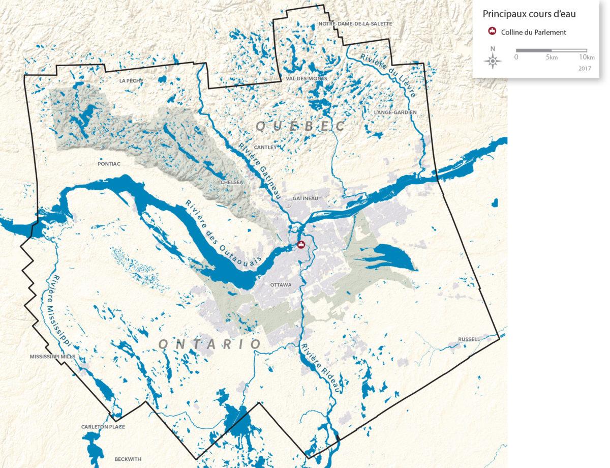 Principaux cours d'eau