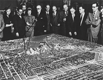 1950: Jacques Gréber's city plan establishes many of the region's lasting features, including federal campuses, ring roads and parkways, and the Greenbelt to contain urban growth.