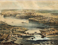 1857: Two years after Bytown was renamed Ottawa, Queen Victoria designates it the capital of the united Province of Canada.