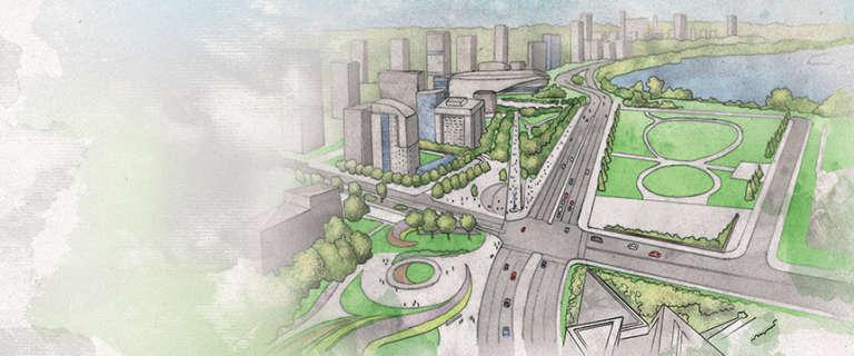 Development of LeBreton Flats and the islands sites