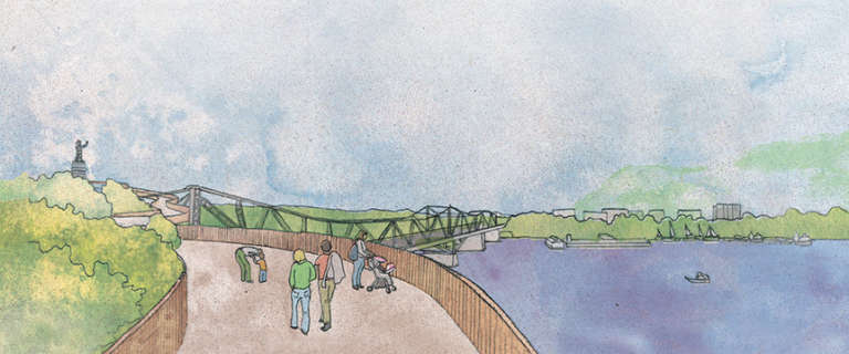 Renouvellement de la pointe Nepean et parachèvement d'une promenade riveraine du canal Rideau aux chutes Rideau