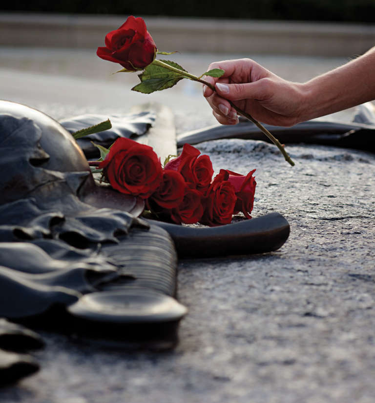 Roses on the Tomb of the Unknown Soldier.