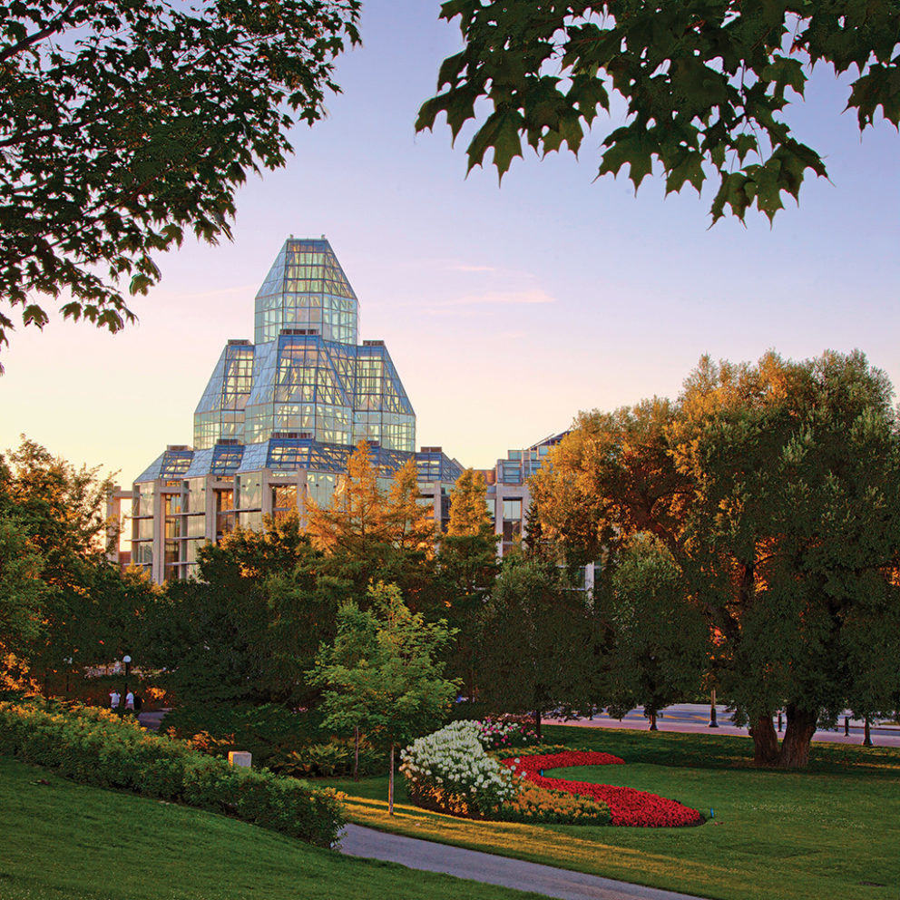 Vue du Musée des beaux-arts du Canada à partir du parc Major's Hill