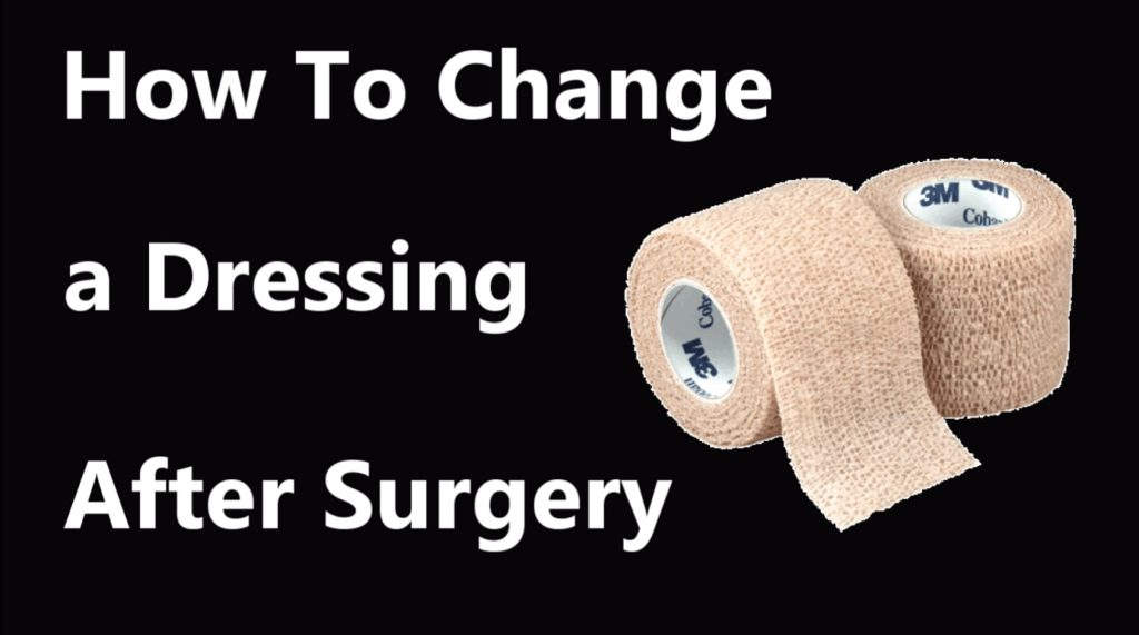 screenshot of how to change a dressing video