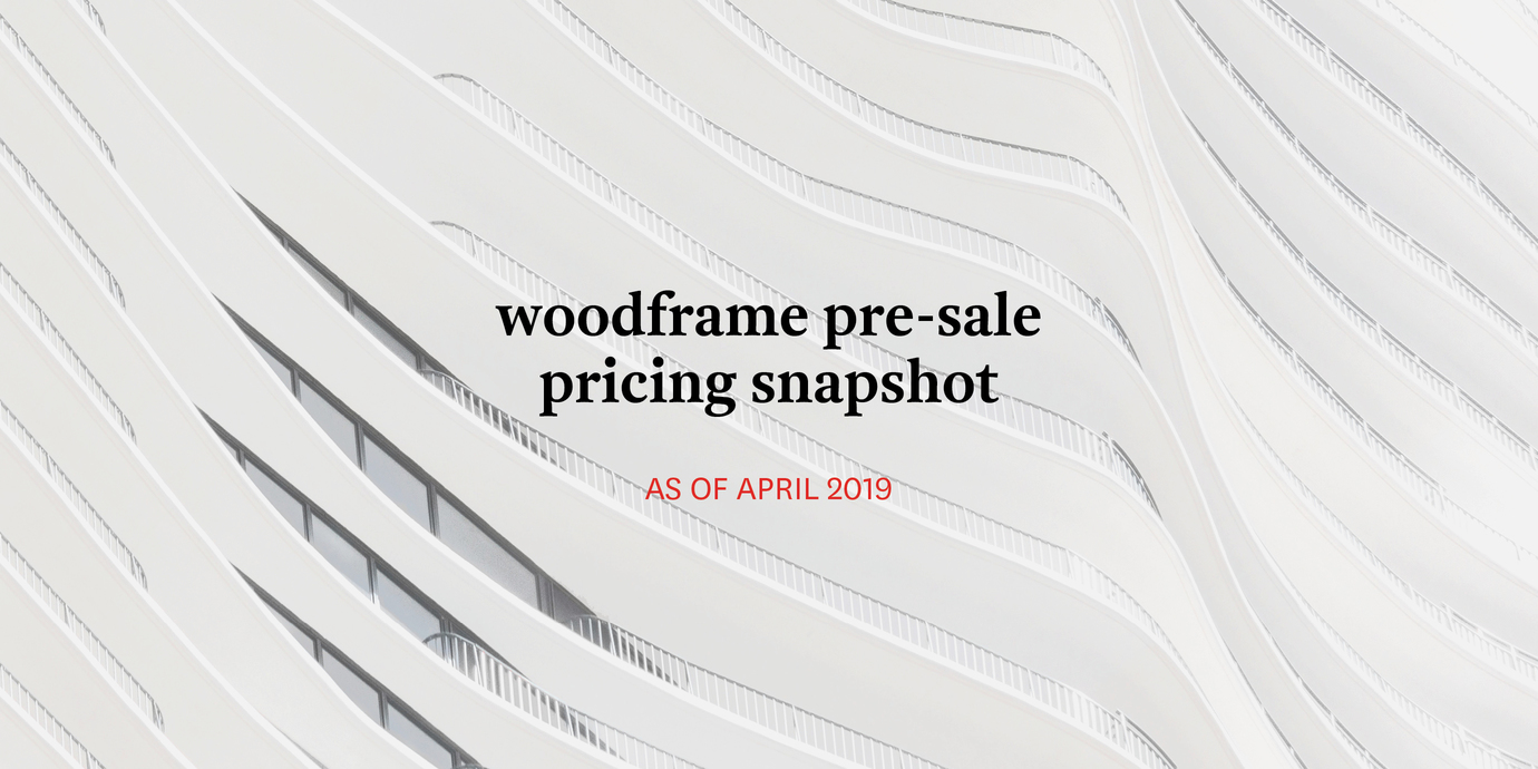 Pricing woodframe april