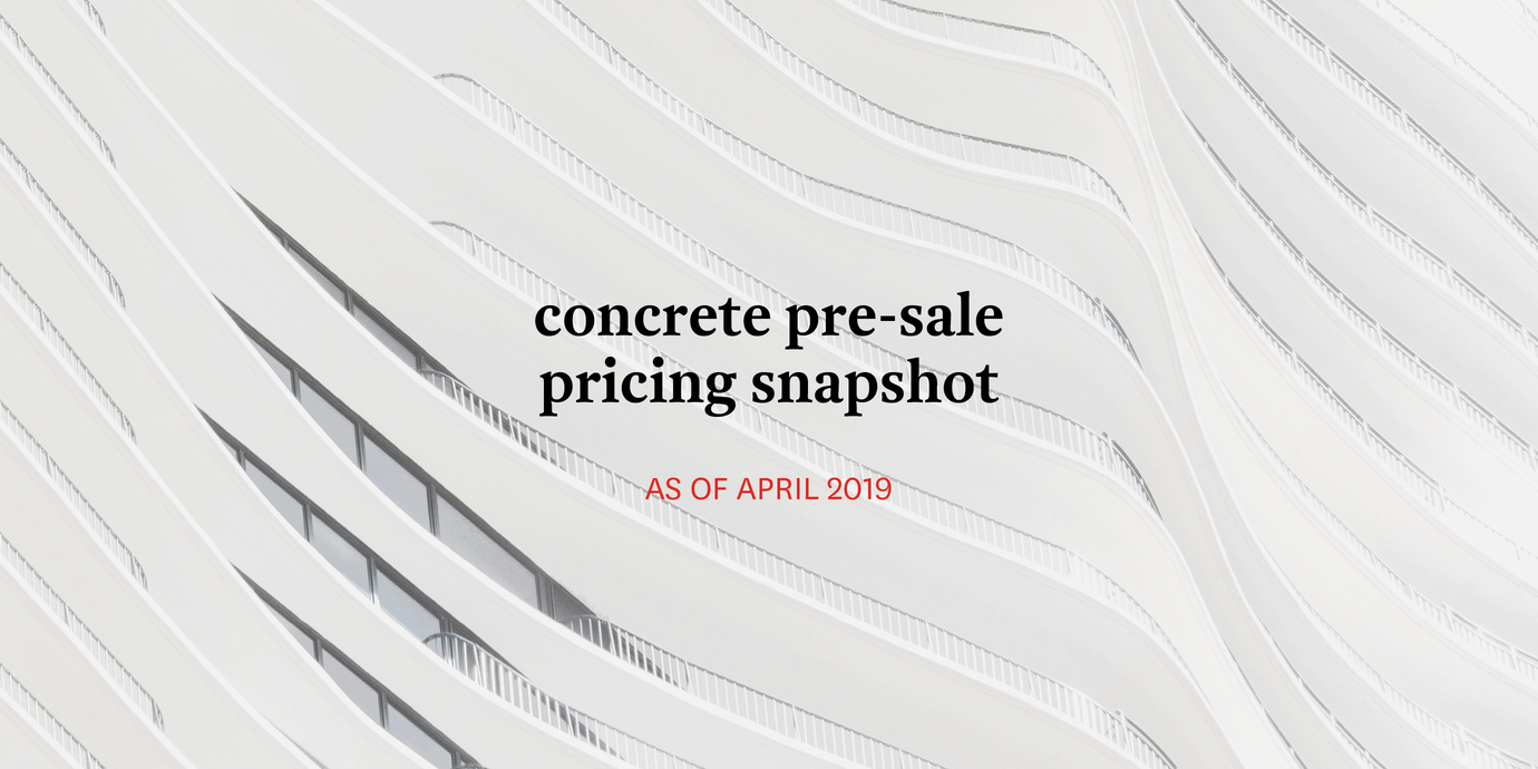 Pricing concrete april