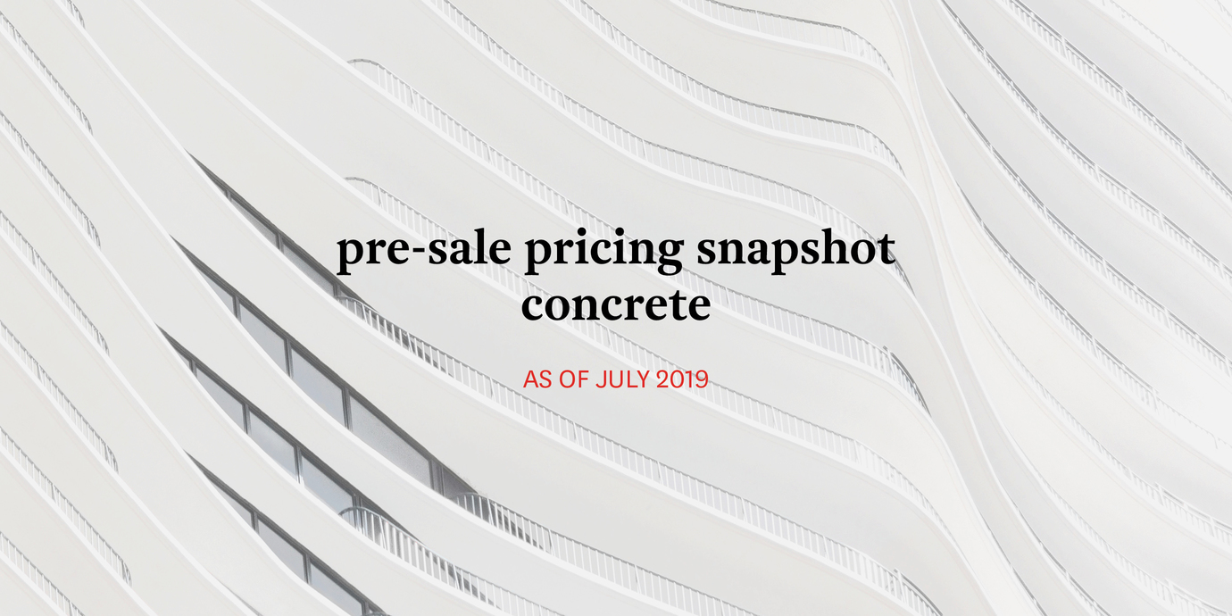 Pricing concrete july