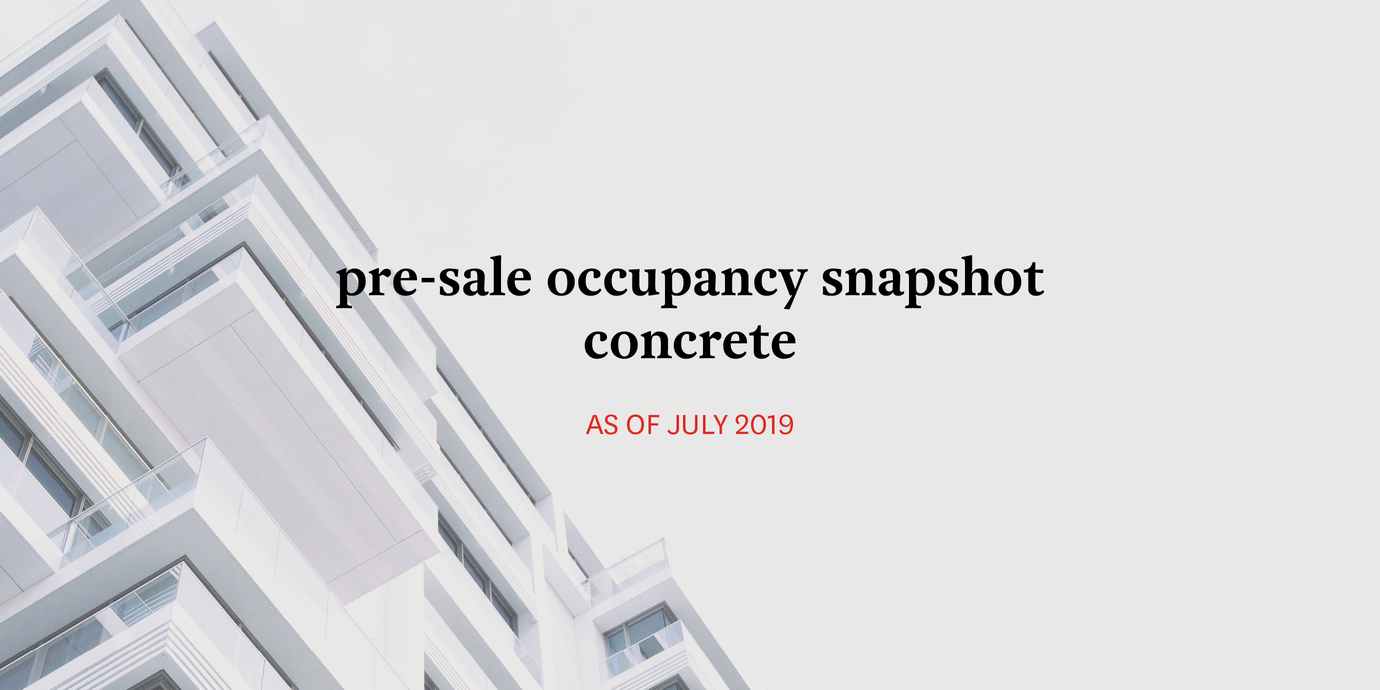 Occupancy concrete july