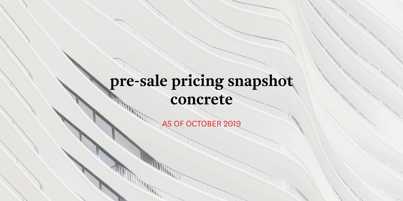Pricing concrete october