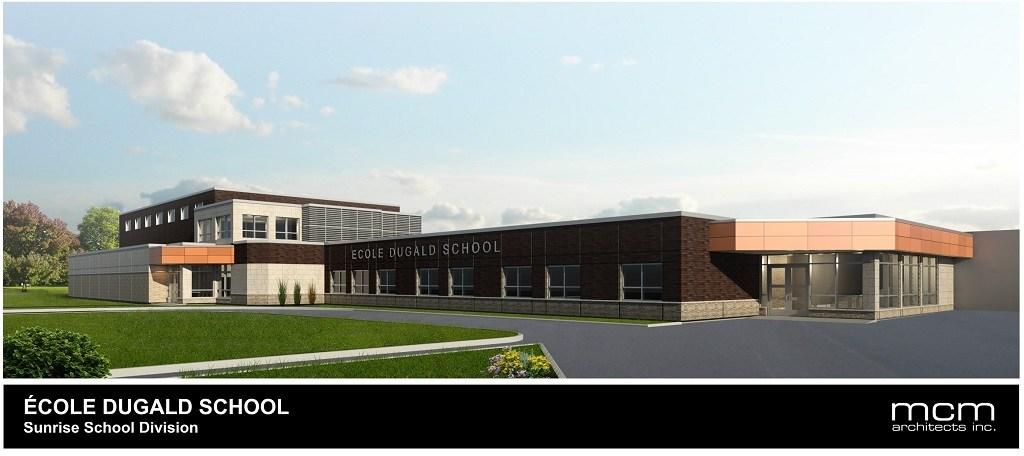 École Dugald School Expansion Project Rendering