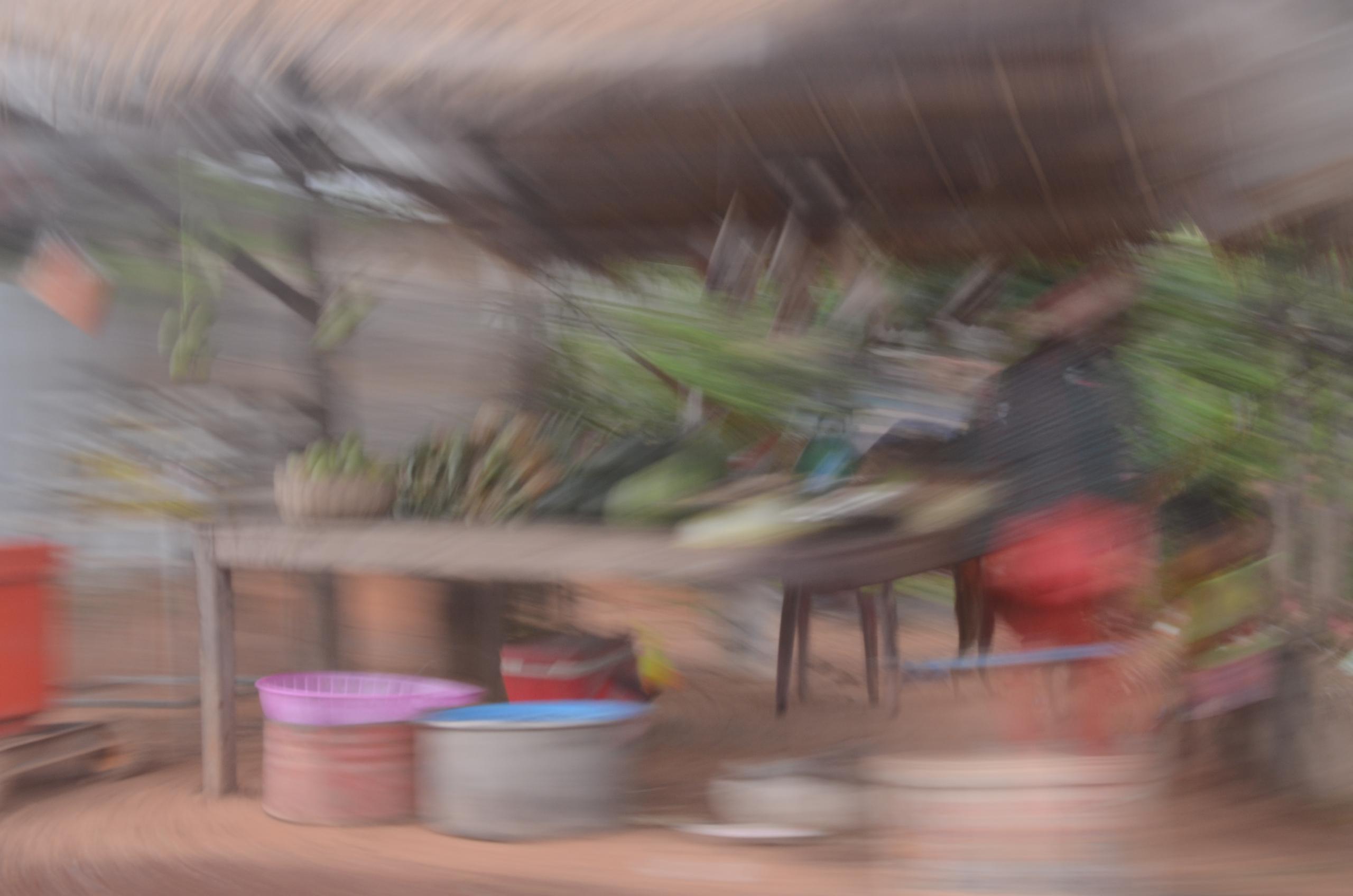 Joel Drutz, Cambodia Fruit Stall, 2016