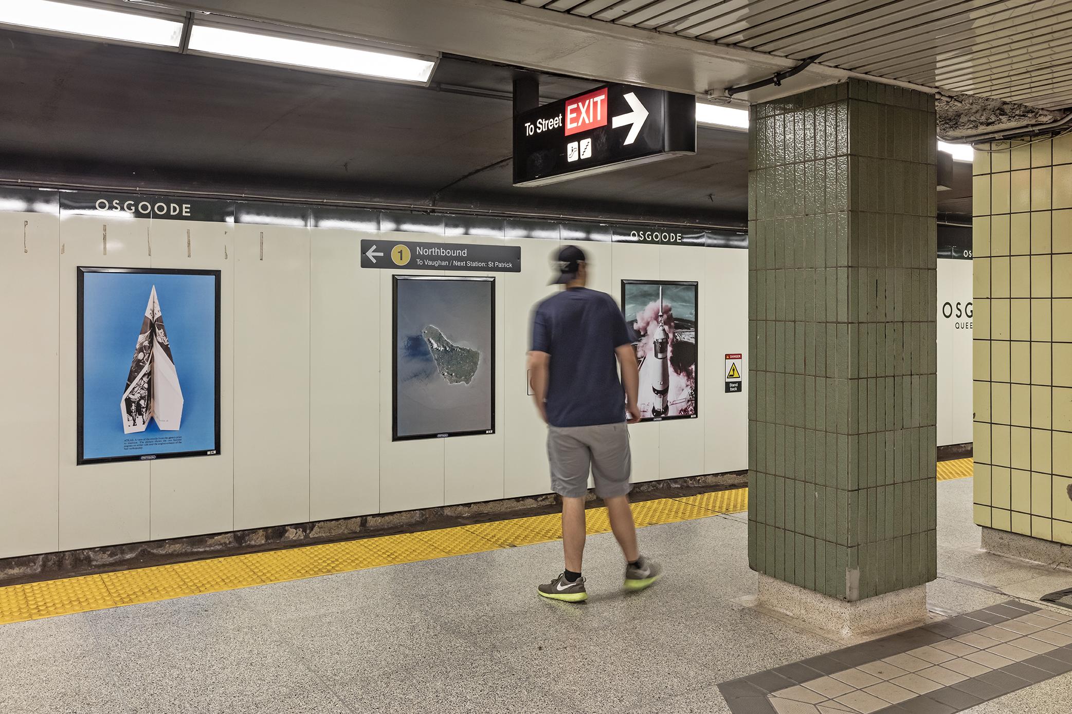 Bianca Salvo, The Universe Makers, Installation at Osgoode subway station, Toronto, 2019. Photo: Toni Hafkenscheid.