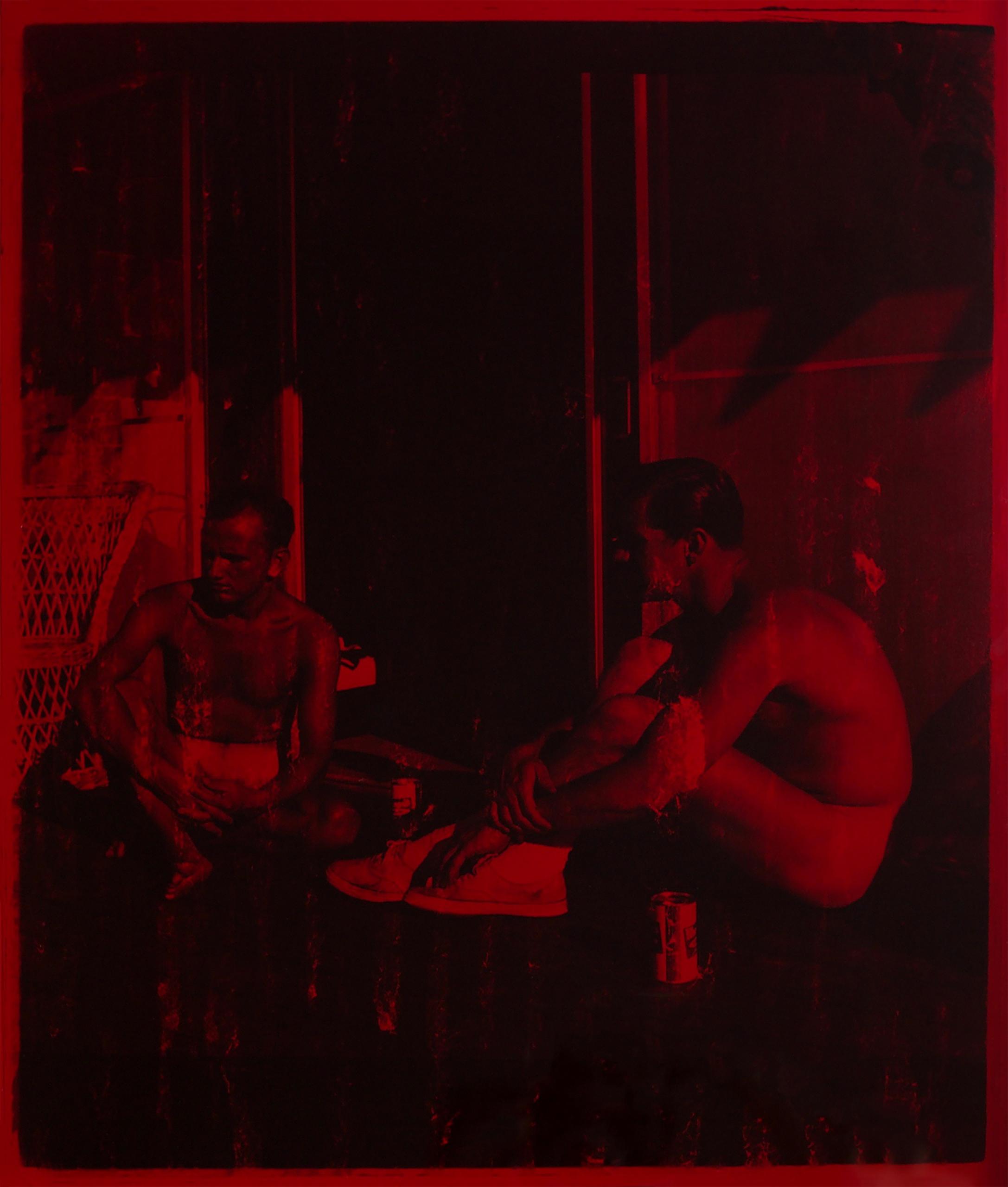 Jonah Samson, Untitled, 2019. Silver gelatin photograph in custom red plexiglass box.