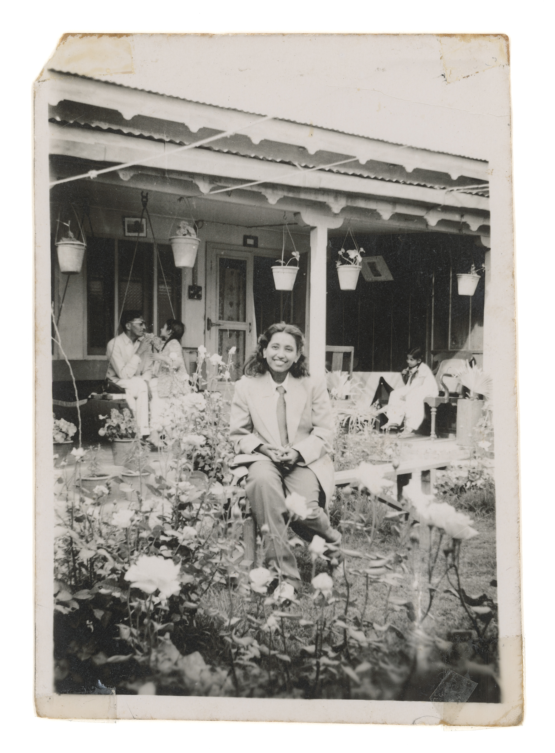 Zinnia Naqvi, Nani in Garden, 1948, 2017. Inkjet print, 48x35 in. Courtesy of the artist.