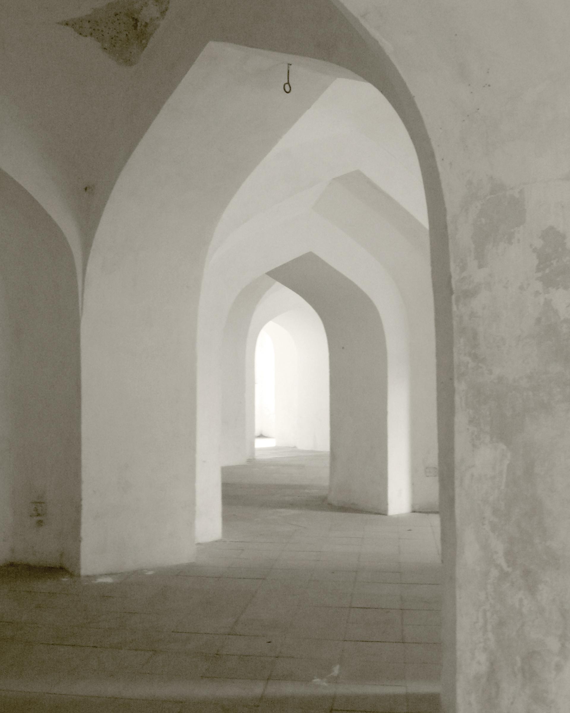 "Anthea Baxter-Page, Archways, Jaipur, 2012. Archival digital print, 30 x 24""."