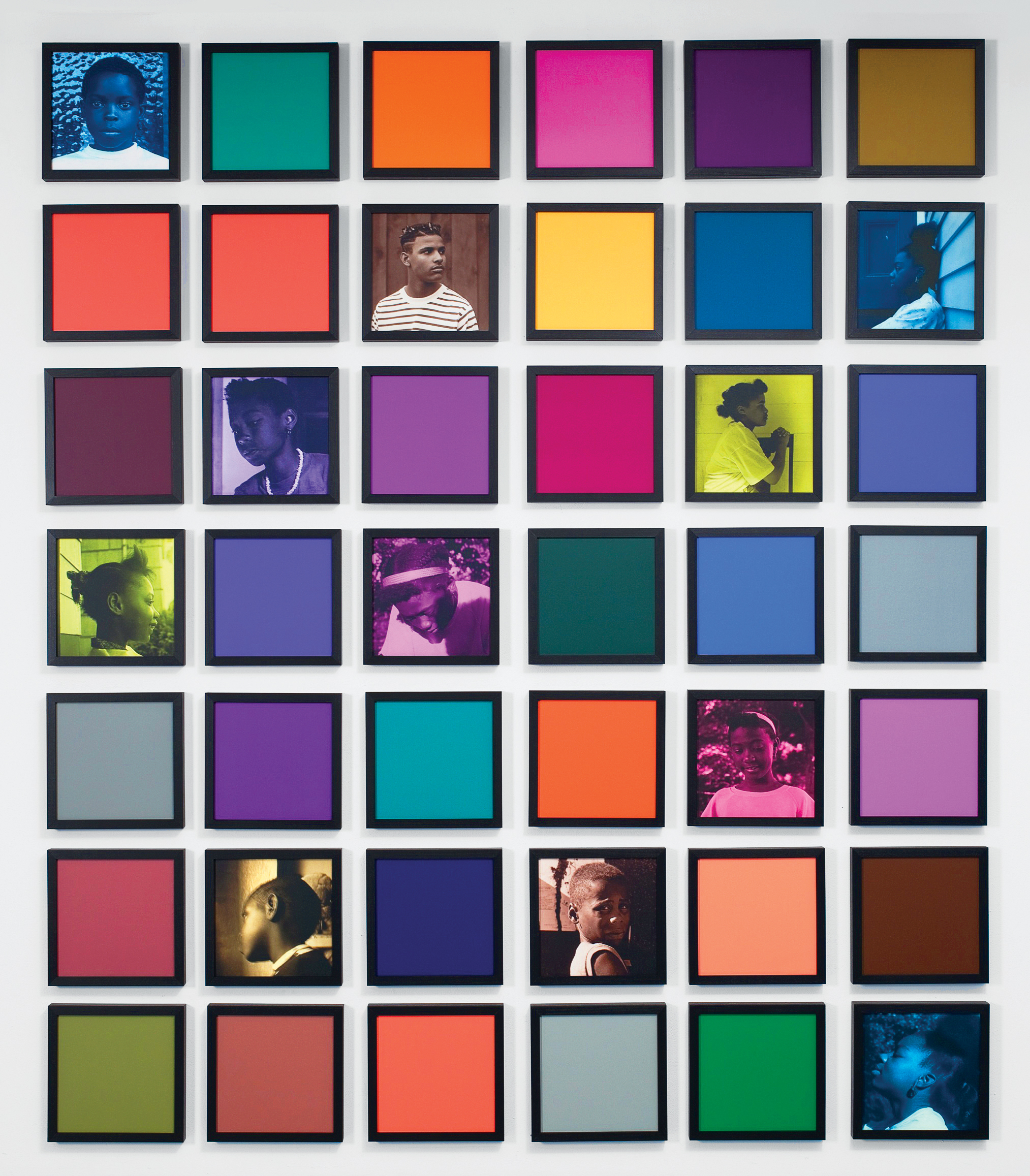 Carrie Mae Weems, Untitled (Colored People Grid), 2009. Courtesy the artist and Jack Shainman Gallery, New York, NY