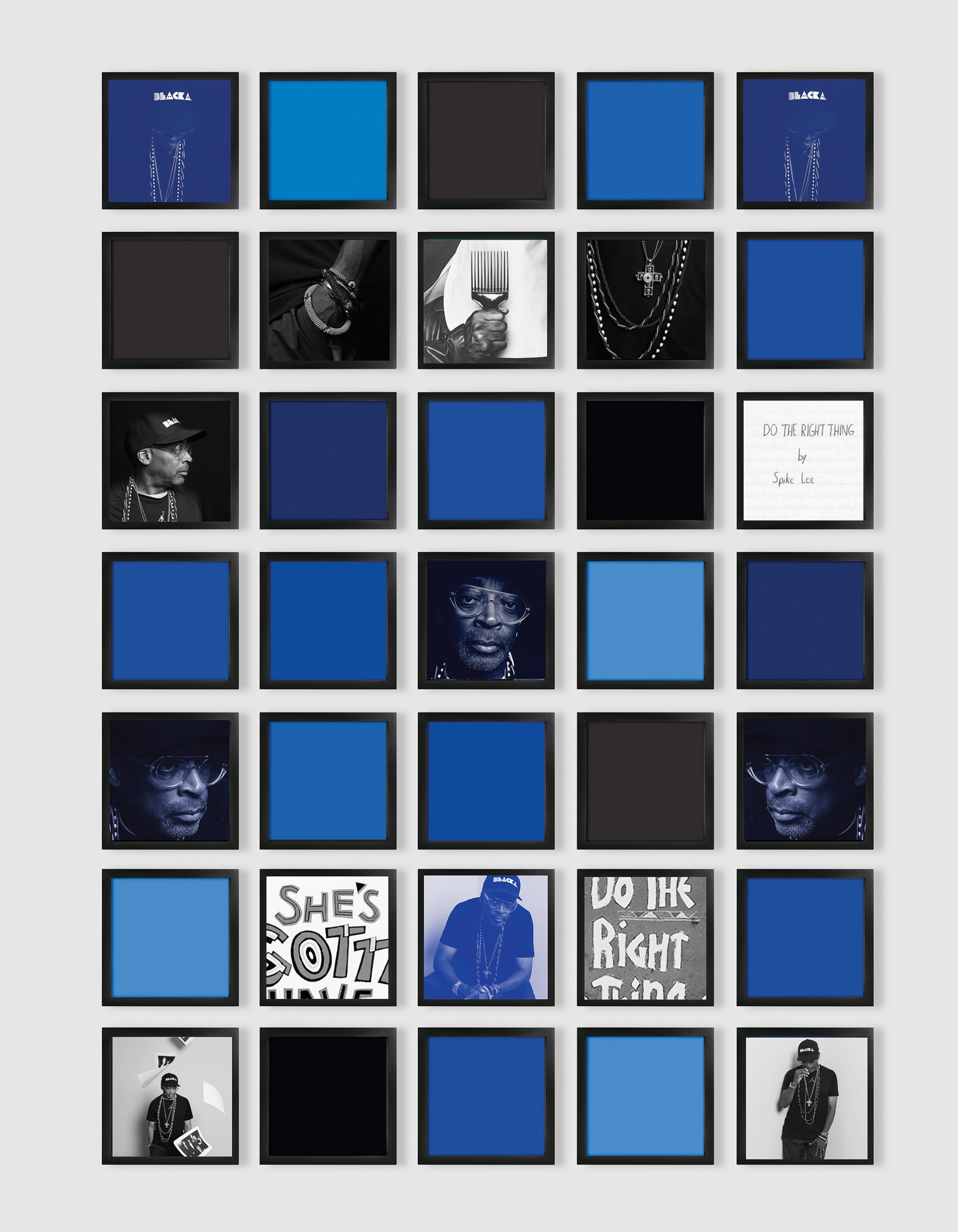 Carrie Mae Weems, Untitled (Spike Lee Grid), 2018. Courtesy the artist and Jack Shainman Gallery, New York, NY