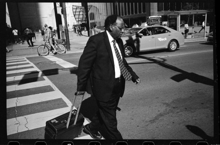 Bidemi Oloyede, Businessman on Bay Street During Rush Hour., 2019