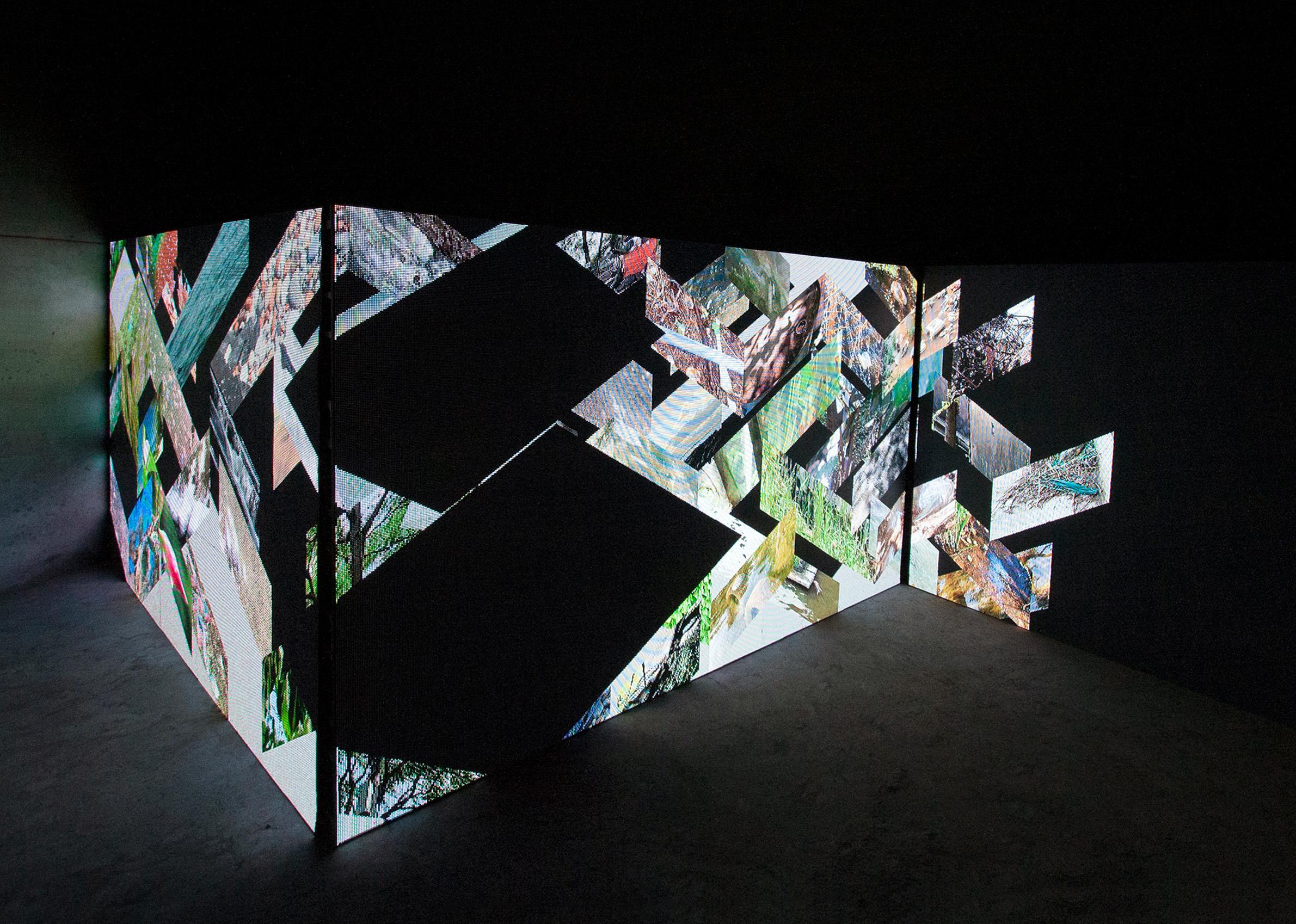 Lyla Rye, A Meditation, (installation view), 2019. Three-channel video. Courtesy of the artist. Photo: John Dickson.
