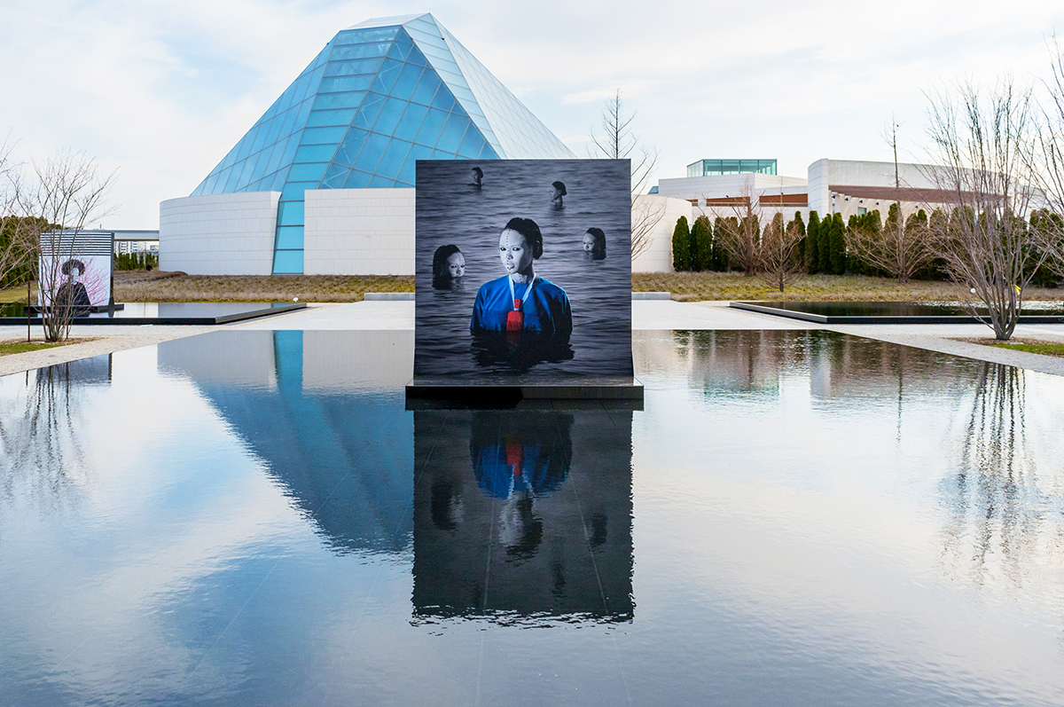 Aida Muluneh, Reflections of Hope, Installation view at the Aga Khan Museum. 2018.