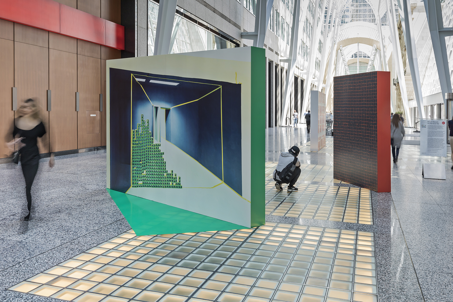 Marleen Sleeuwits, Not The Actual Site, Installation view at Brookfield Place. 2018. Photo by Toni Hafkenscheid